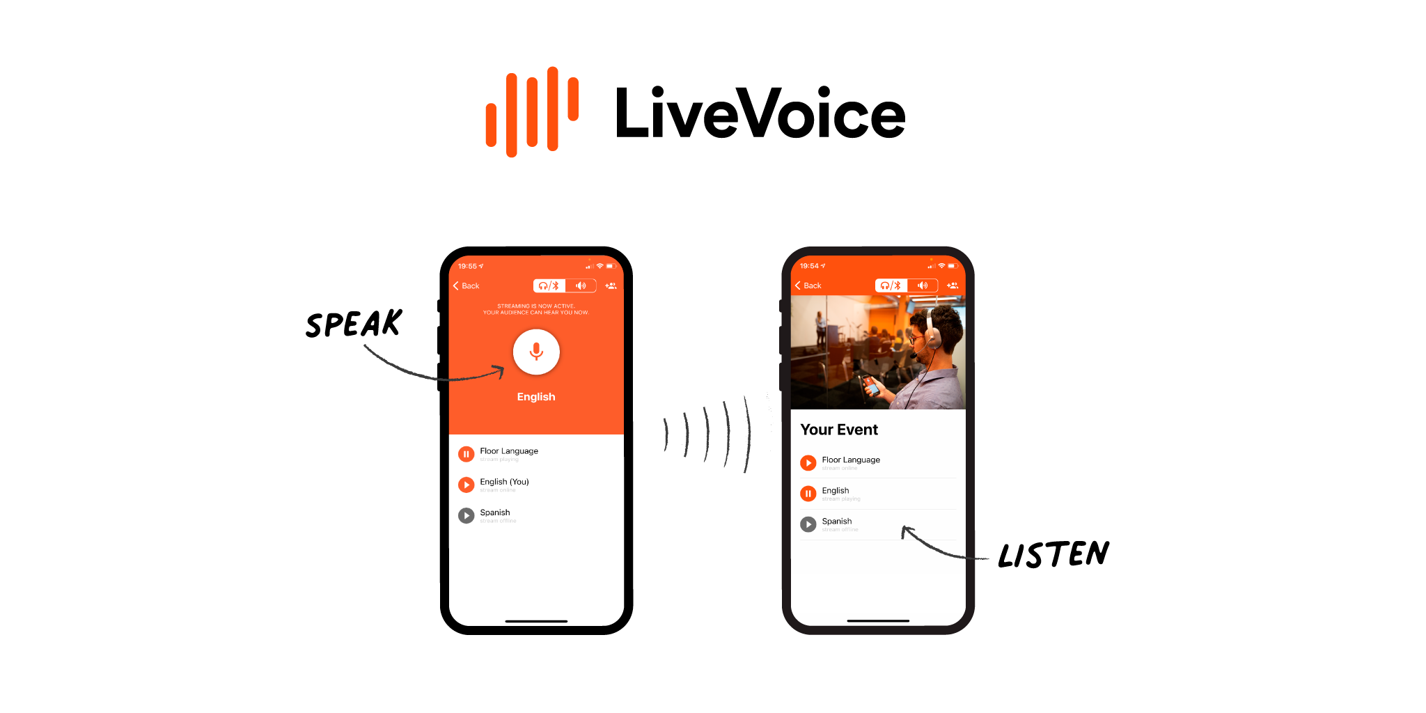 LiveVoice The app for simple audio streaming to your audience
